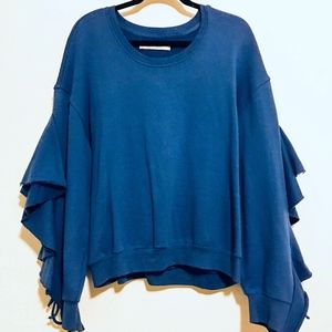 Royal Blue Open Sleeve Sweater